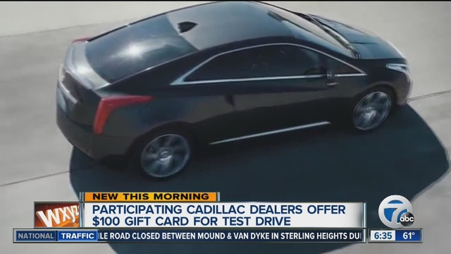 GM offers new customers $100 to test-drive Cadillac