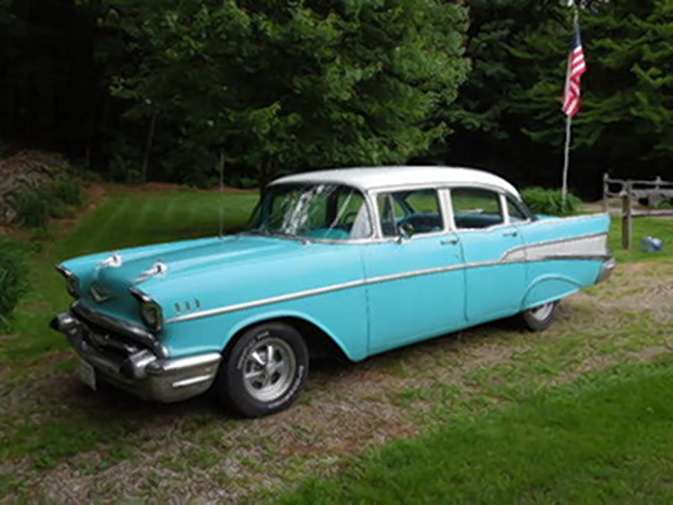 SEE IT: Kentucky son gives dad '57 Chevy for 57th birthday