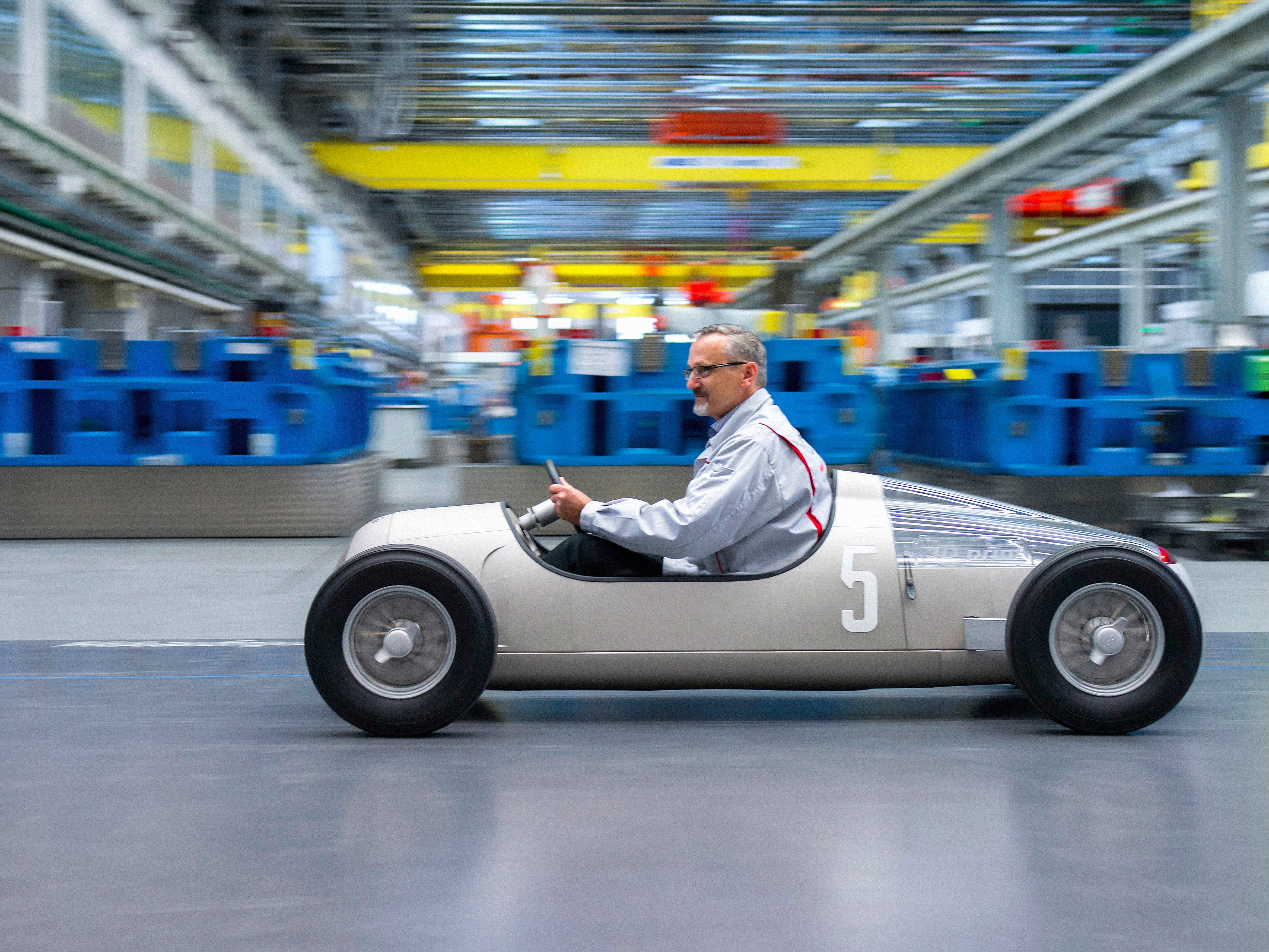 Check out Audi's adorable scale model Type-C racer