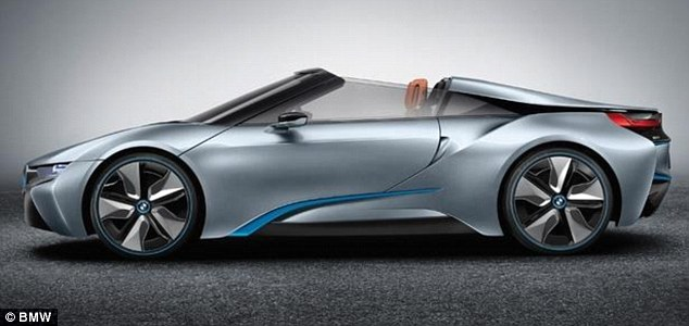 BMW's 'batmobile' i8 Spyder concept car could be unveiled in January at CES